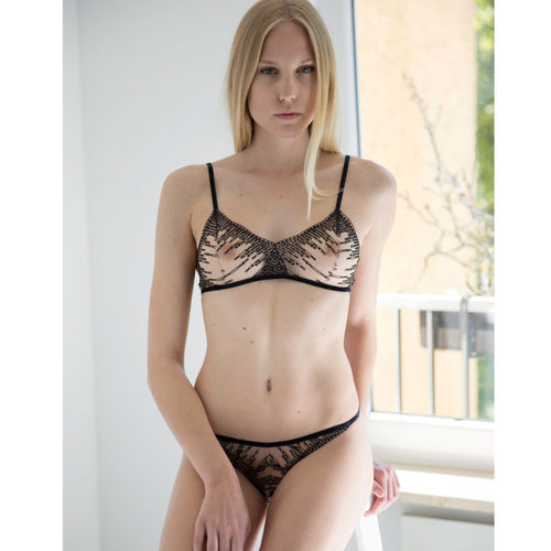 Schwarze Illusion - Dessous Set